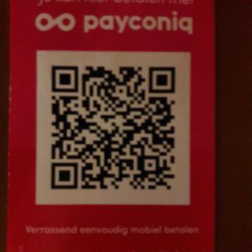 Betaal hier! Scan QR code in en geef het bedrag zelf in
